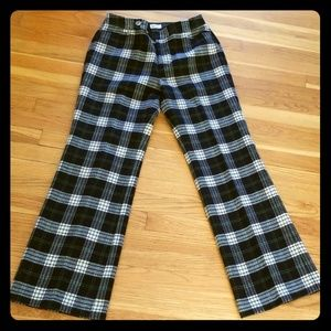 Eddie Bauer Plaid Wool Pants 8
